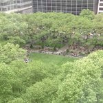 View of Bryant Park from our window