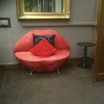 The Lips sofa in the sun room of the Lounge Suite