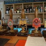 Many real ales on tap, most are 'locALE'