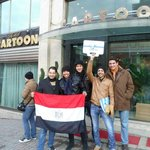 Infront of the Hotel With Friends