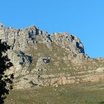 Partial view of Table Mountain from our balcony
