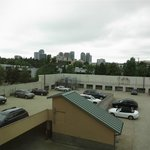 top of parking garage, downtown Bellevue to left