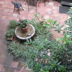 Part of peaceful courtyard at Hotel Villa Convento.
