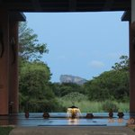 The view of Sigiriya from the reception area