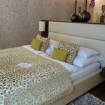 Double bed with welcome