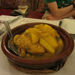 Dinner at the riad: chicken tagine