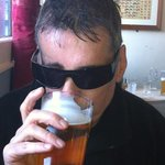 My mate Andy enjoying a pint of Summer Ale. Andy says you can almost taste the sunshine.
