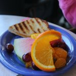 Kids Quesadilla with fruit