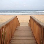 Walk down the ramp, and you're right at the beach!