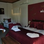 Family self catering unit, double and 2 single bed.