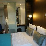 The motel one room in Frankfurt