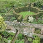 View of the garden from Vita Sackville-West's tower/writing room