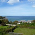View of Carbis Bay from the hotel balcony