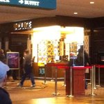 Entrance is before you get to the casino