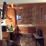 Hot tub and wet bar -- They did a great job on the reno!