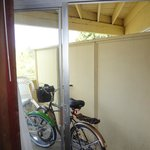 Patio - good for storing a bike, not much more