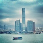 Amazing blue/grey days - view to ICC tower in Kowloon