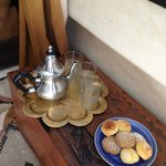 Mint tea and moroccan pastries