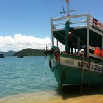 Our boat at Bamboo Island.