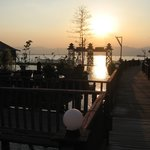Sunset at the Paradise Inle Resort
