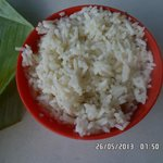 steam rice with onion oil, go down well with pork ribs soup