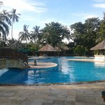 "Santosa pool side. It has ""The Sunken Bar"".;"