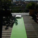 Perfect terrace for a morning yoga session ...