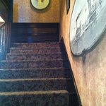 This is the stairway.. at the top is a picture of a little girl that is part of a 'haunted story