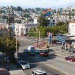 View of Castro Street from living room towards Castro / Market intersection