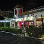 A view of Ovenella Restaurant after a good late night meal there.