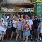 Our group outside Agnes Lodge