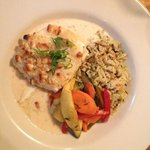 crusted halibut - excellent