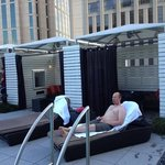 private cabanas with TVA