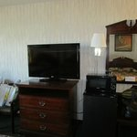 TV, Frig, Microwave, Table w/chairs