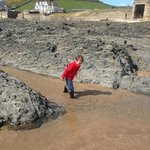 Crabbing on Croyde beach