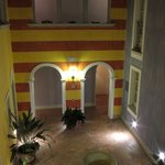 Internal courtyard at Hotel Cannero