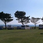 View from the camper/caravan site