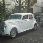 Old Mercedes (steering wheel on left hand side) @ Graha Cakra