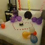My birthday surprise from hotel staff