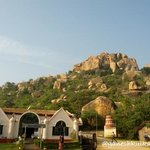 Reception of Kishkinda Resort, Hampi