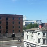 Veiw of the Liverpool Eye from our room, on the secod floor.