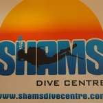 Shams Dive Center sign