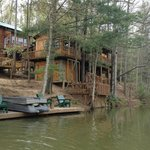 Back view of the cabin from the water.