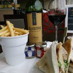 Fabulous club sandwich in the bar