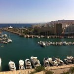 view from our room on 9th floor looking to the marina and Red Sea