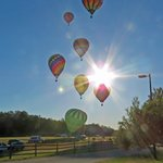 Balloons Floating By at Aloft - Heritage Park