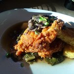 Fried Chicken, collards and cornbread