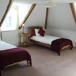 Twin room in Wren (attic) building - Cathedral view