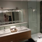 Twin sinks in bathroom