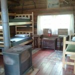 Typical cabin, also has dry sink